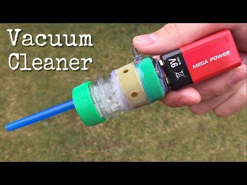 Amazing idea - How to Make a Mini Vacuum Cleaner Using Plastic Bottle Caps and DC Motor