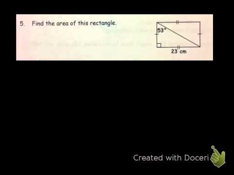 Area & Perimeter of Rectangles, Squares, Parallelograms & Triangles