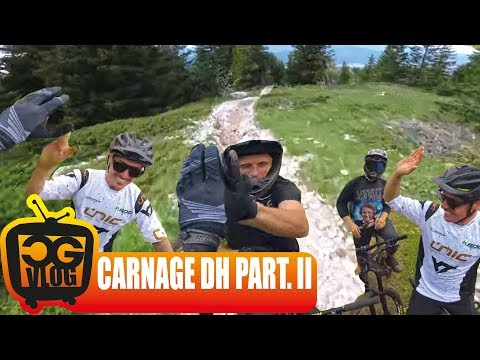 CARNAGE DH Round 2 : EPIC FREERIDE DOWNHILL MTB FULL RUN POV RAW UNCUT SICK EDIT - CG VLOG #324