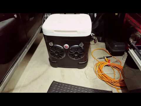 Bluetooth ice chest radio