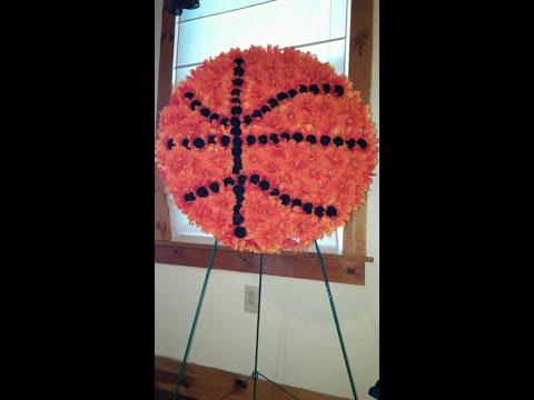 How to make a Basketball Funeral Arrangement - DIY