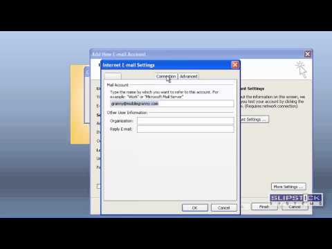 Add account in Outlook 2007