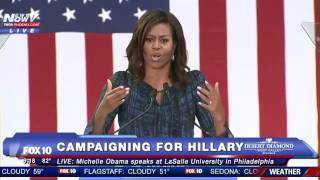 FULL: Michelle Obama Campaigns for Hillary Clinton at LaSalle University in Philadelphia - FNN