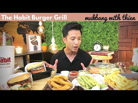 [mukbang with THIEN]: 🍔 THE HABIT BURGER GRILL (Charburger, Onion Rings, and Fried Green Beans!)