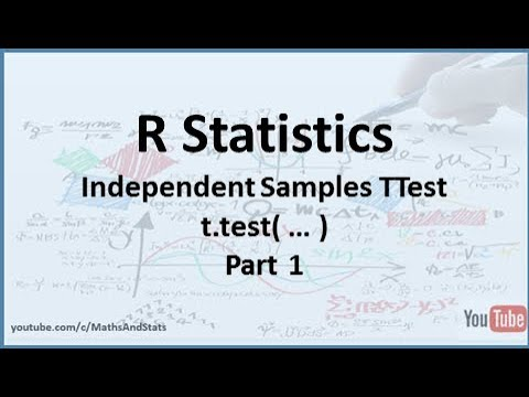 R Statistics: An Independent Samples t-Test (Equal and Unequal Variances) - Part 1