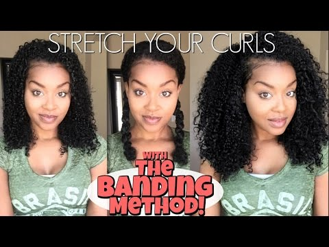 How To:: Stretch Your Curls! | The Banding Method