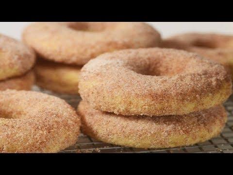 Baked Cake Doughnuts Recipe Demonstration - Joyofbaking.com