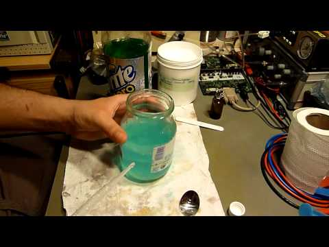 How to fell the copper chloride out of a HCl based used up etch brew.