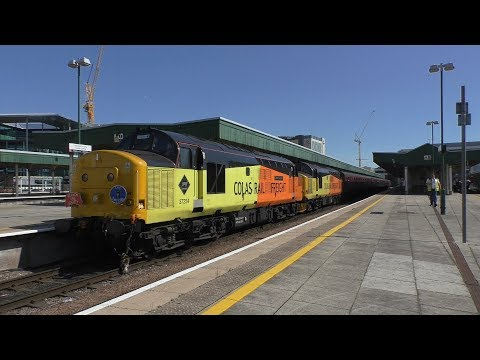Cardiff Central 2x68's and 2x37's also HST September 2nd 2017