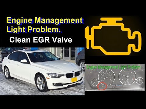 How to Clean BMW 320 d F30 F31 EGR Valve - replacement - Fix Motor Engine pale Light fault problem