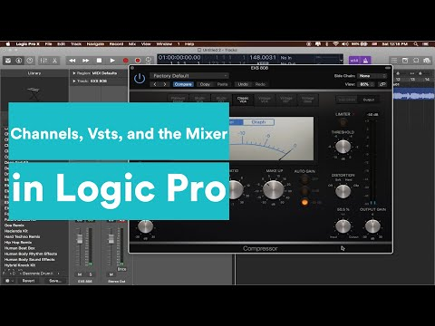 Logic Production Tutorial - The Basics of Channel Strips, Virtual Instruments and Mixing