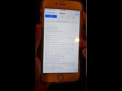 How to delete Web(Safari) browsing history on iPhone 6S/Plus