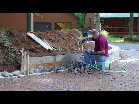 Building a Mortared Stone Retaining Wall