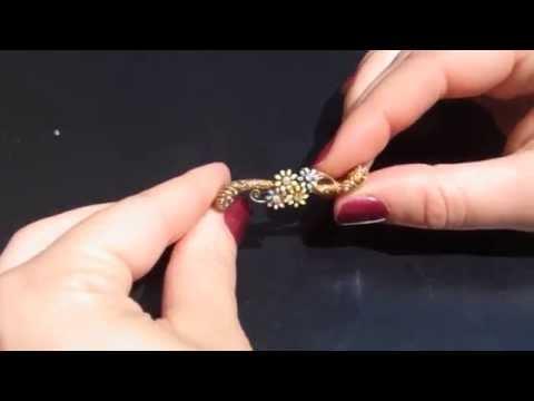 Sohojewelers.com Antique Diamonds Blue Yellow Enamel Floral Brooch.AVI