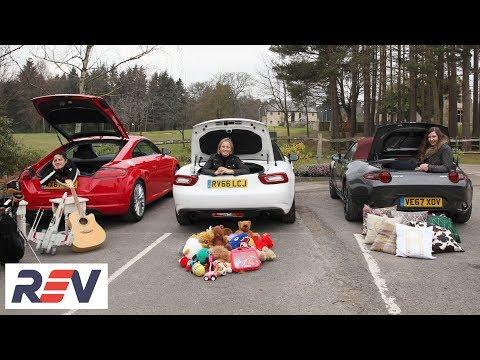 The REV Test: Small sports cars. Audi TT vs Fiat 124 Spider vsMazda MX-5.