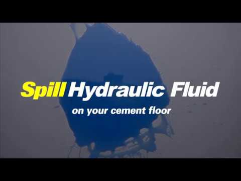 How to Clean Hydraulic Fluid Spill from Concrete Floor
