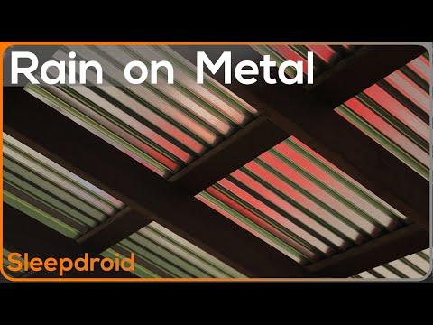 ►10 hours of hard rain on a metal roof (Rain Sleep Sounds) Rain Sounds for Sleeping. Rainfall.lluvia