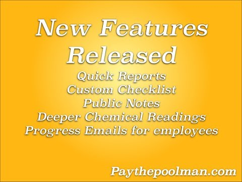 New Features released for Paythepoolman 6-26-17