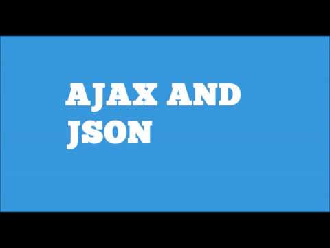 AJAX and JSON - With working example using JQuery