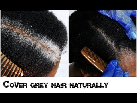 How To Cover New White Or Grey Hair Growth Into Black Naturally With No Chemicals Natural Hair