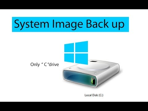 How to backup System Image file of