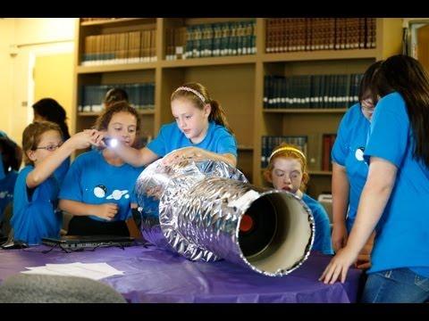 Students Build Mini Hubble Telescopes
