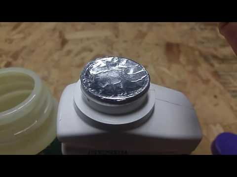 How to dispense small amounts of fluid from  large plastic bottles