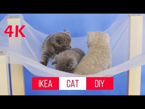 How to make a Cat Bed Hammock DIY, IKEA hacks