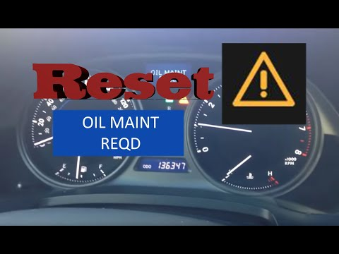 How To Reset Oil Maintenance Required Light In 2006 2017 Lexus Is250