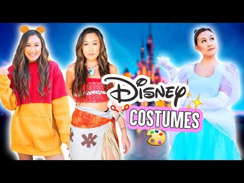 DIY DISNEY HALLOWEEN COSTUMES 2017 (Moana, Cinderella & Pooh)