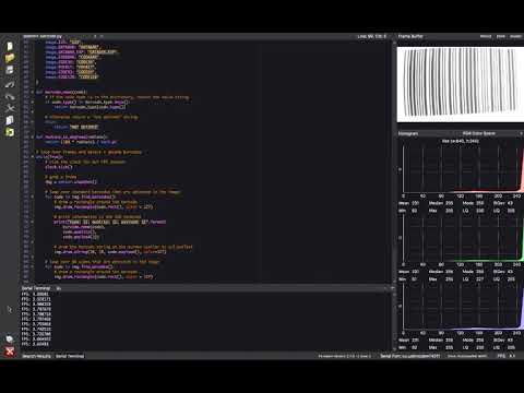 Reading barcodes with Python and OpenMV