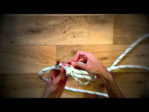 How to tie an Iyengar Yoga wall rope?