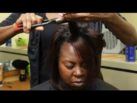 How to Curl Long, African-American Hair : African-American Hair Care