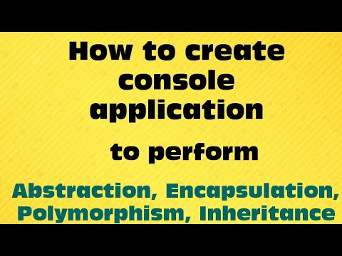 Console application for oops Part 3 by Ajit kumar singh