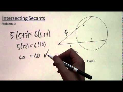 Intersecting Secants