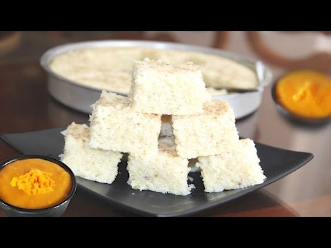 Idada or Idra - White Dhokla Video Recipe | Steamed Savory Rice Lentil Cake | Bhavna's Kitchen