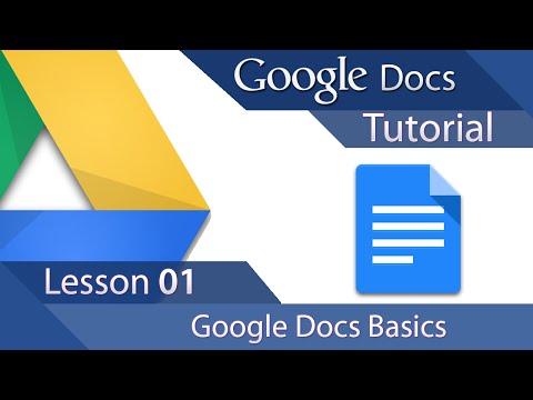 Google Docs - Tutorial 01 - Learn the Basics