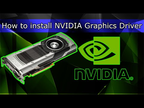How to install NVIDIA Graphics Driver