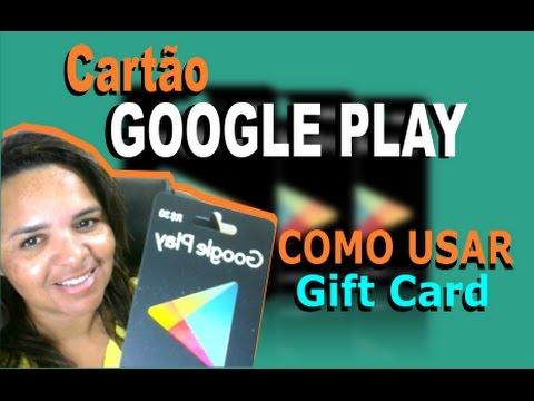 🔴COMO USAR CARTÃO GOOGLE PLAY (GIFT CARD)🔴