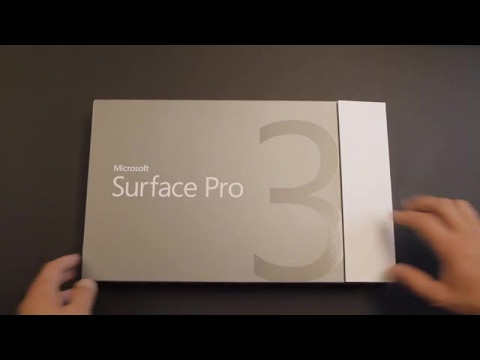 Surface Pro 3 unboxing