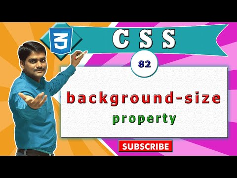 CSS video tutorial - 82 - background size property in css