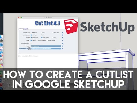 Sketchup CutList Extension Tutorial | Crafted Workshop