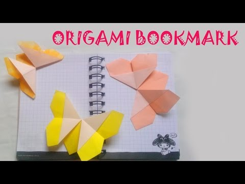 Origami - Origami Butterfly Bookmark