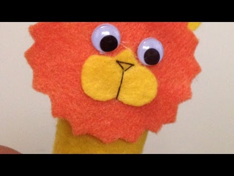 Make a Easy Lion Finger Puppet - DIY Crafts - Guidecentral