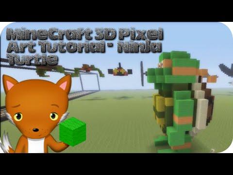MineCraft 3D Pixel Art Tutorial - Teenage Mutant Ninja Turtle