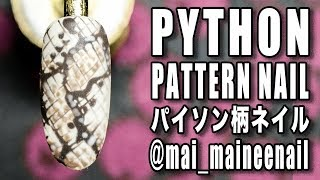 Download HOW TO REAL PYTHON NAILS - リアルパイソン柄ネイルの描き方 maineenail riccagel Video