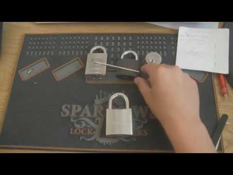 Locks from Lucas  - Lockwood padlockpicked open