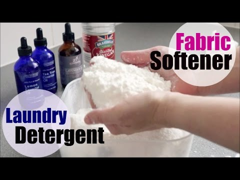 DIY Laundry Detergent & Fabric Softener