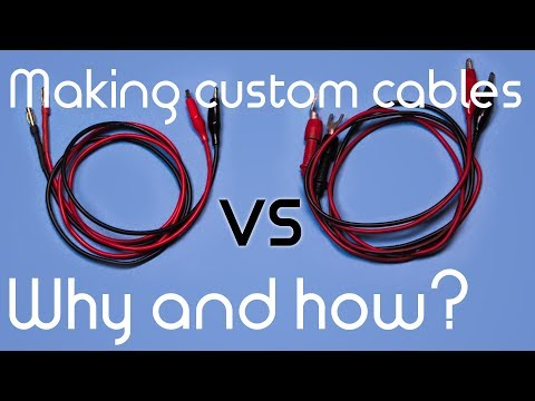 Making custom PSU/multimeter cables - Why and how? (in around 2 minutes)