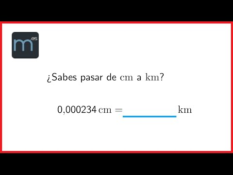 ¿Sabes pasar de centímetros a kilómetros?